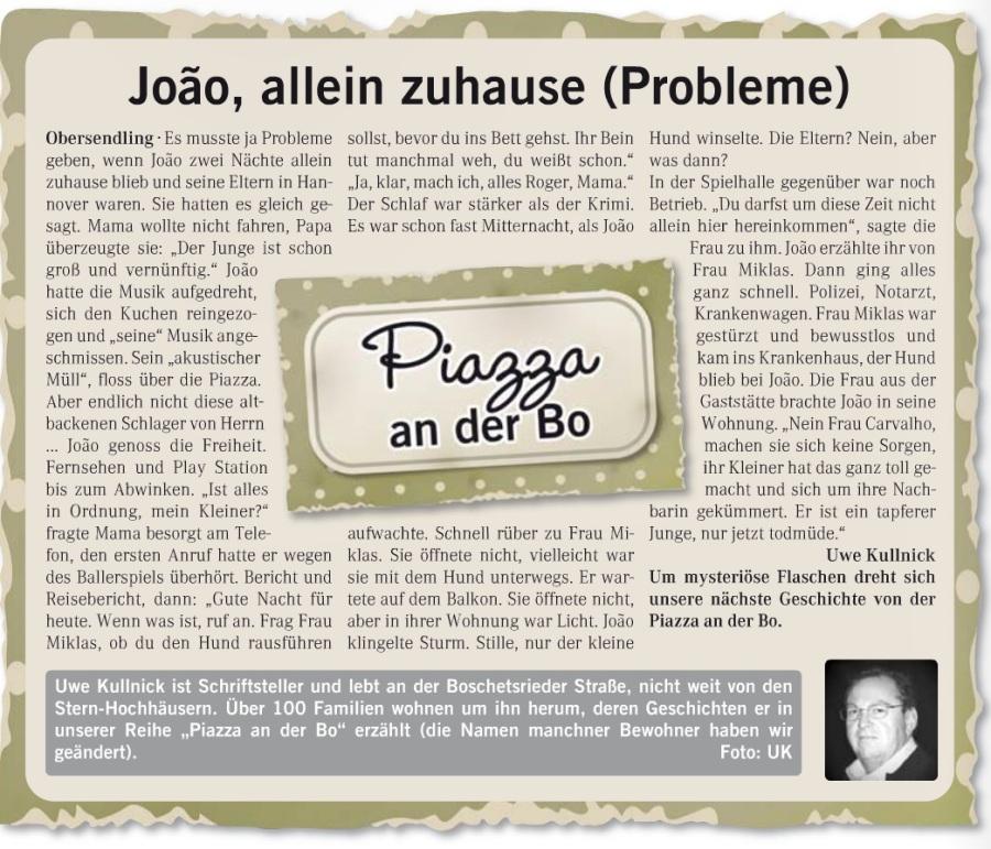 26 Joao, allein zuhause (Probleme)